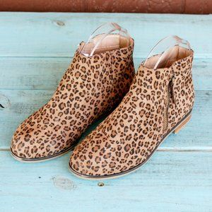 Cat & Jack Jani Booties Leopard Print Zipper Sz 3